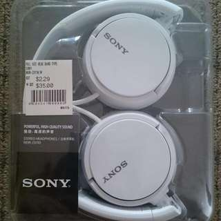 Sony stereo headphone (MDR -ZX110 White)