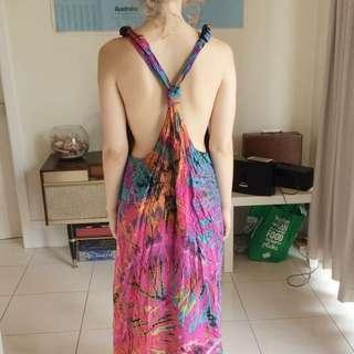 Tie Die Maxi Beach Dress Size S- M