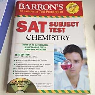 Barron's SAT Subject Test Chemistry 11th Edition