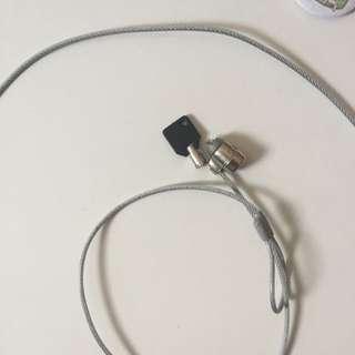 防鎖筆電鋼繩附鑰匙