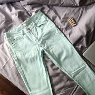 Cotton On Mint Green Skinny Jeans