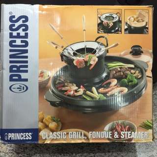 Princess Classic Grill Fondue & Steamer (Used Once Only)