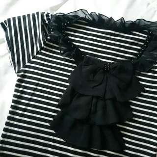 Stripe Ruffle Shirt