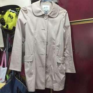 [二手]Bear Two 米色中長大衣外套