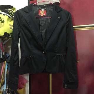 [二手]KB 專櫃 黑色蝴蝶結短外套 - M號
