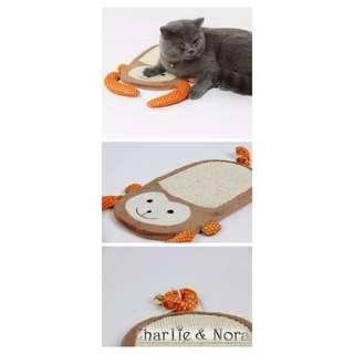 【現貨】天然劍麻調皮猴子造型貓抓板(含掛繩)