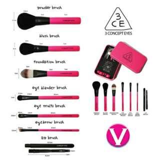 3CE 7pcs Makeup Brushes