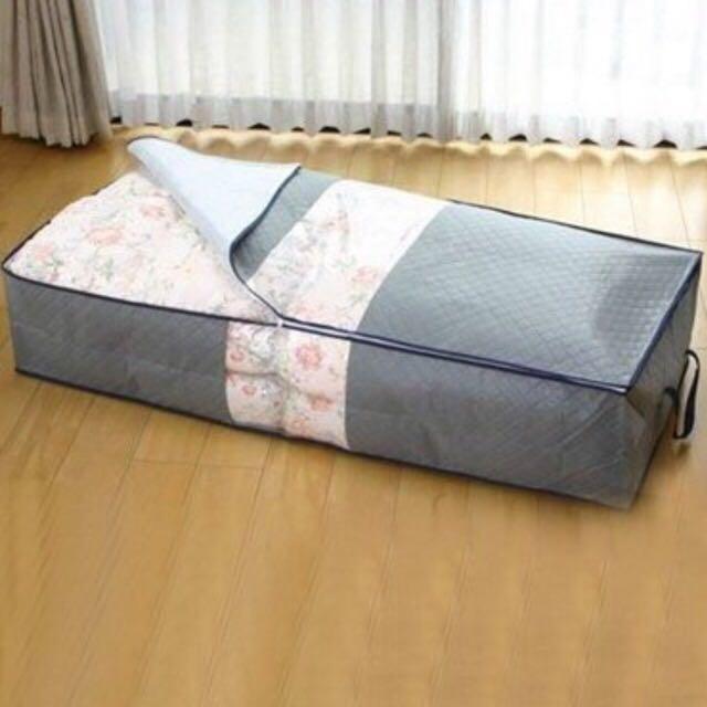 【全新】💞熱銷收納高手95X40竹炭床下棉被衣物收納整理袋💞含運