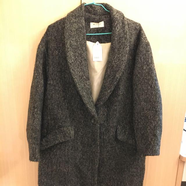灰綠色大衣(正韓)[全新]