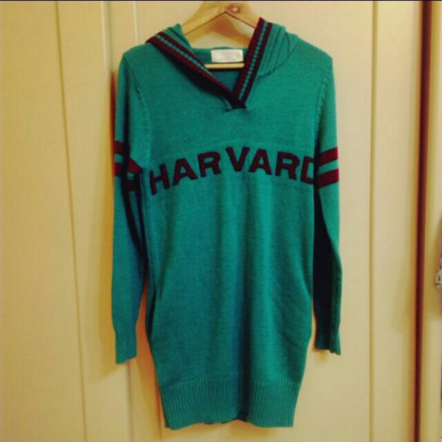 長版哈佛上衣