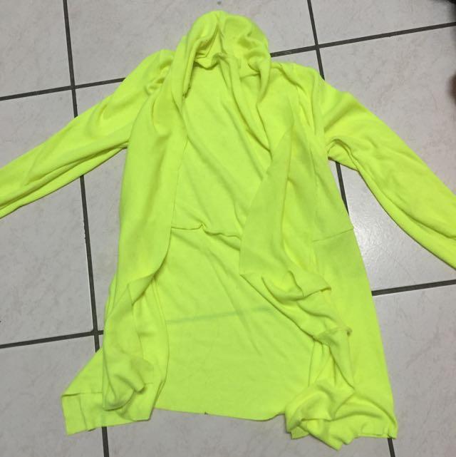 螢光色罩衫外套