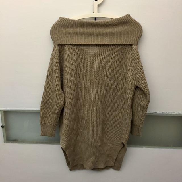 兩穿長版針織毛衣