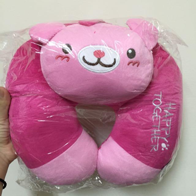 粉紅小熊頸枕💥全新