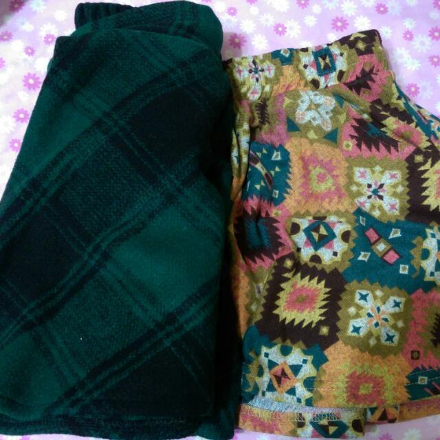 左 裙子 右褲裙