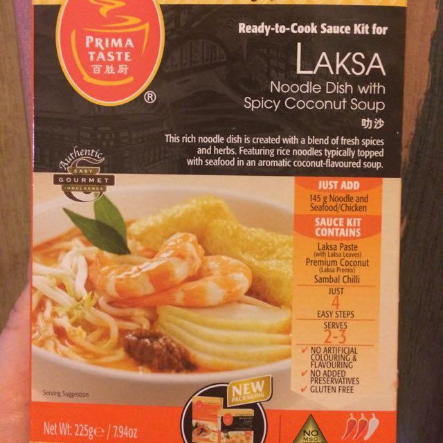 新加坡 百勝廚 叻沙醬調理包LAKSA-半價出清$100含郵。