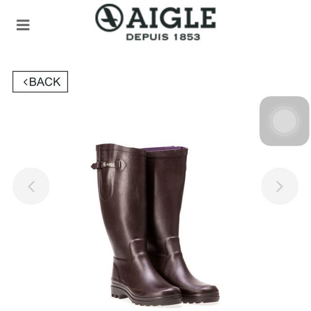 AIGLE 深咖啡雨靴 經典法國老牌  型號: AG-F8587  尺寸:39 原價: 6,500$,歡迎討論價錢🙋