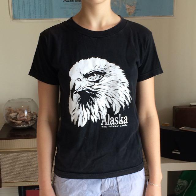 Alaska Eagle Tee Shirt Size Xs