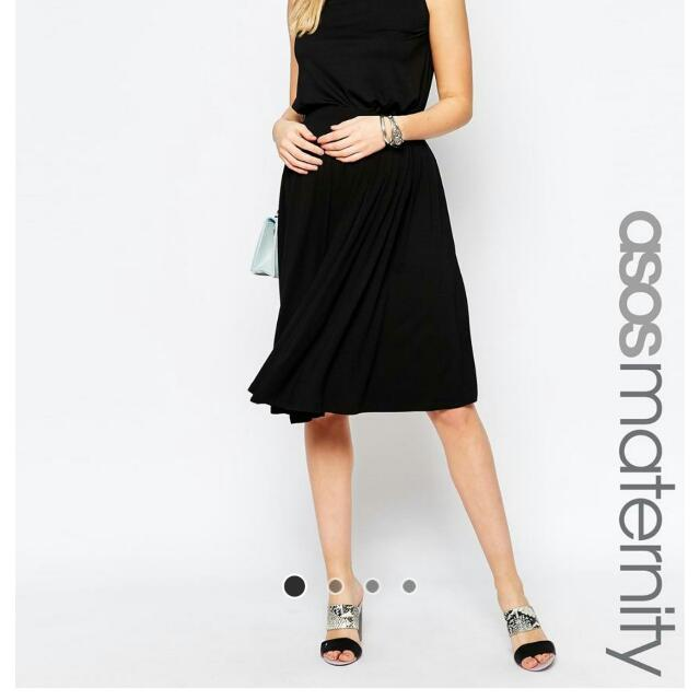 ASOS Maternity Midi Skirt With Pleat Details (Brand New)