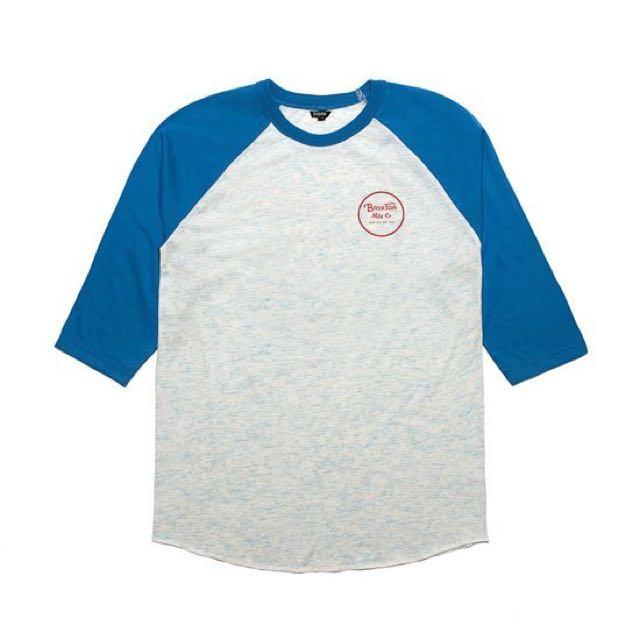Brixton - Wheeler 七分袖 加州質感品牌 衝浪 (藍) S
