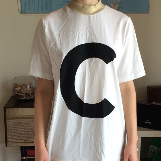 Cheap Monday 'c' Tee Short With Gold Collar Size S