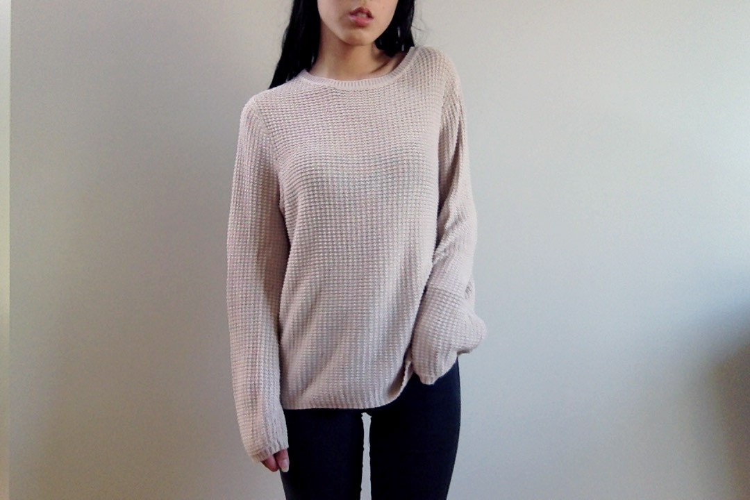 Cream Beige Knit