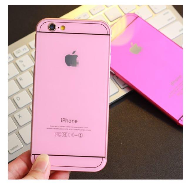 iPhone 6.6S 粉紅色手機殼(全新)