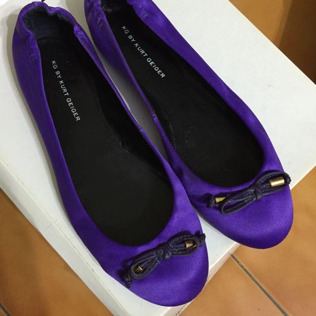 KG By Kurt Geiger 紫色緞面芭蕾舞鞋