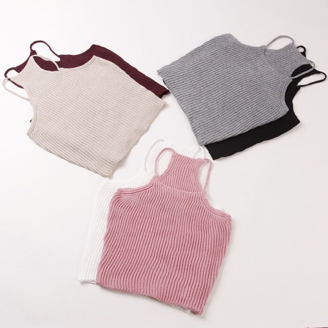 Knit T Back Tank