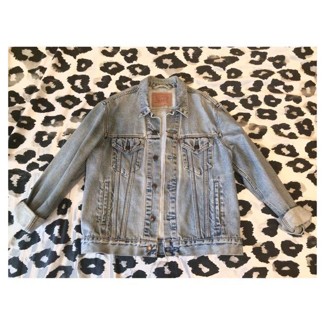 Levi's Vintage Trucker Denim Jacket In Wash Denim