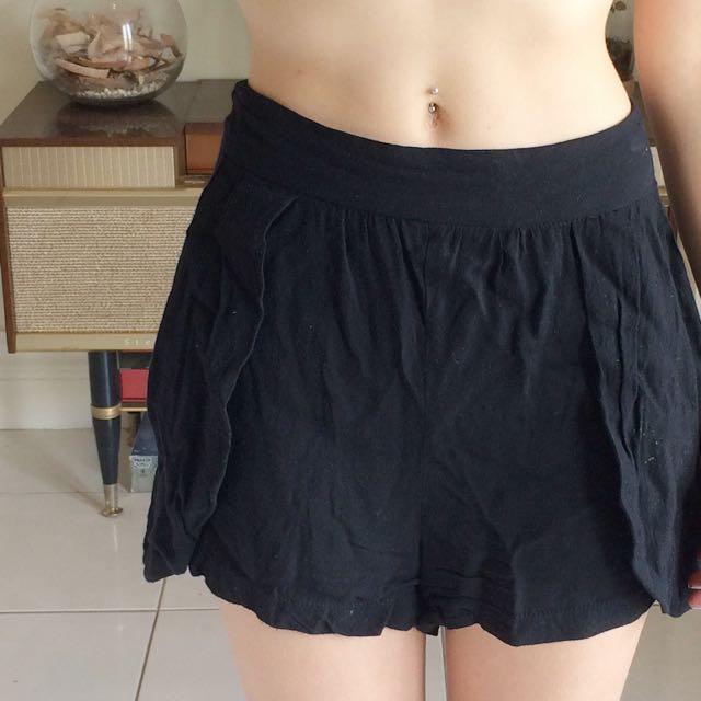 Loose Black Dress Shorts Size 8