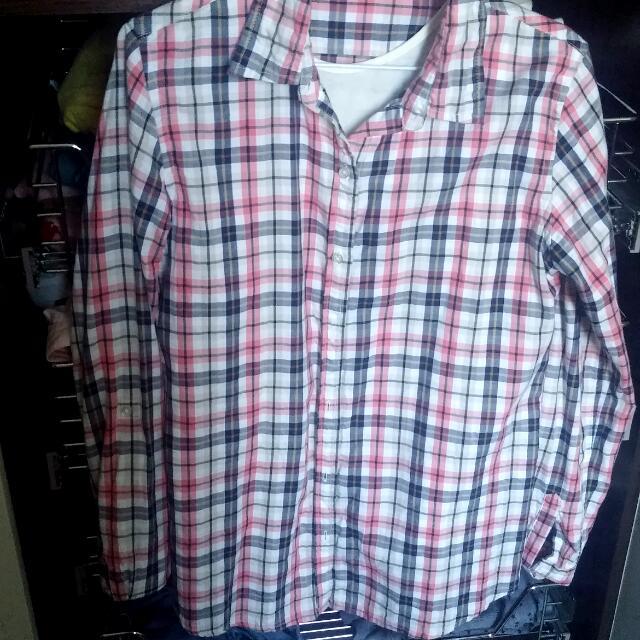 NET 格紋襯衫(長版)
