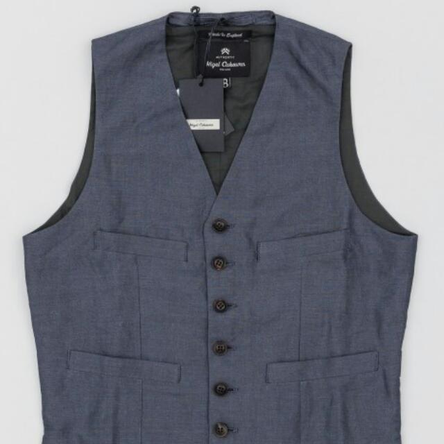 71d90ac4ffdf Nigel Cabourn England Short Vest In Navy Size 46