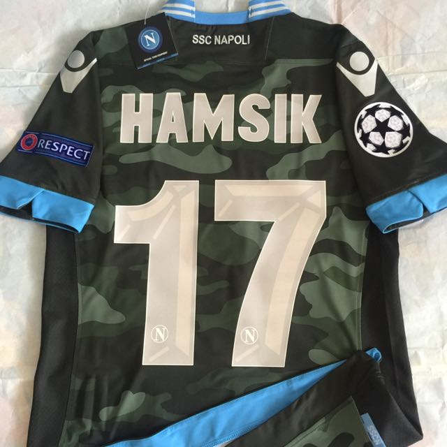 Official Macron Authentic Player Issue Napoli 2013 14 Away Uefa Champions League Ucl Hamsik 17 Camoflage Jersey Camo Fight Kit Sports On Carousell