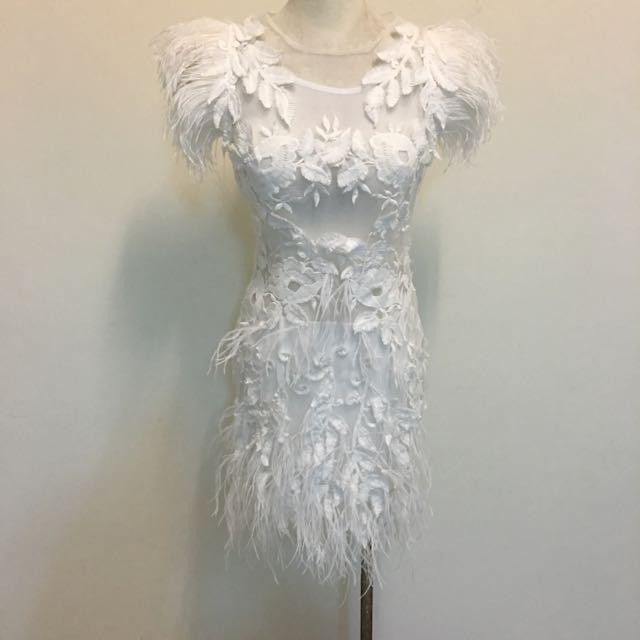 性感羽毛天使小禮服。S號全新