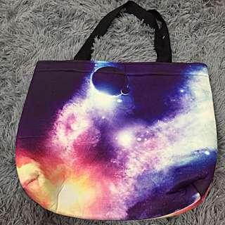 星空淺水布手提包