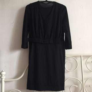 COS Waistband Vest Black Dress