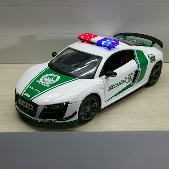 1 18 Diecast Audi R8 Gt In Dubai Police Livery Item Is Available