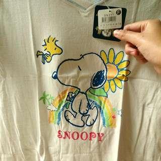 全新Snoopy系列t恤(白灰粉)