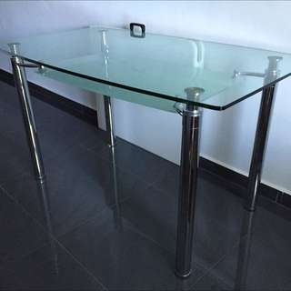 Dining Table-2 Layered Glass