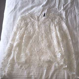 Lacy Top From H&m Never Worn Size 10 Long Sleeved