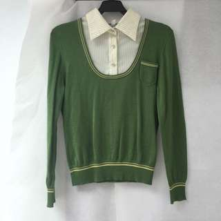 綠色針織衣
