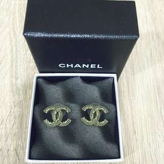 PRICE FURTHER REDUCED!! Authentic JADE GREEN Chanel Earring