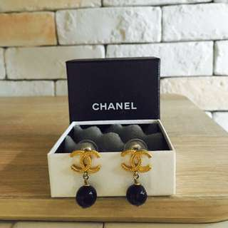 Authentic GOLD&BLACK Chanel Dangling Earring