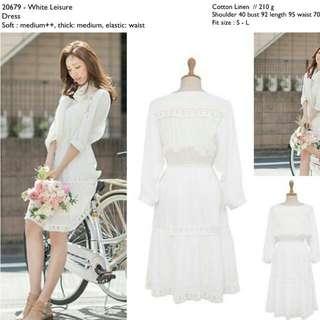 20679 White Summer Dress