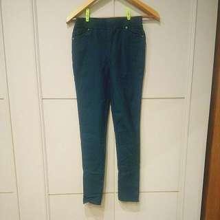 深綠色顯瘦長褲