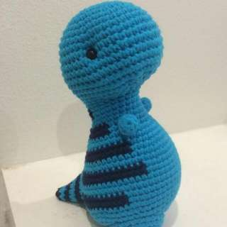 Big-Timothy the T-Rex Crochet Toy, pattern from Bluephone Studios