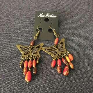 Butterfly Earring Vintage Style