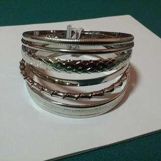 手環6件式/銀