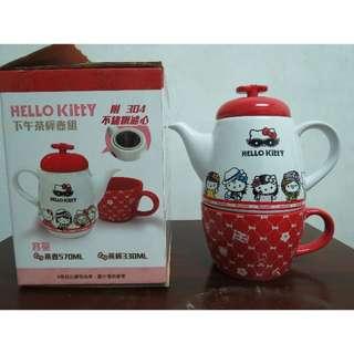 HELLO KITTY 下午茶杯壺組
