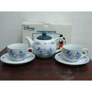 米奇 米老鼠 青瓷壺杯組